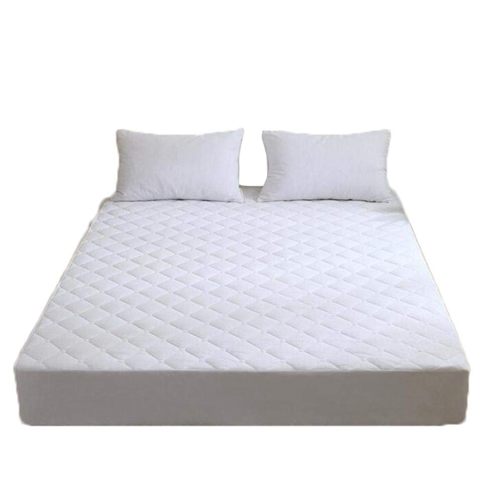 Terry Cloth Bed Cover Cotton Quilted Waterproof Bed Cover Solid Color Plus Cotton Isolation Bed Cover Simmons Protection Bed Cover Waterproof Pad Mattress by Futureshine