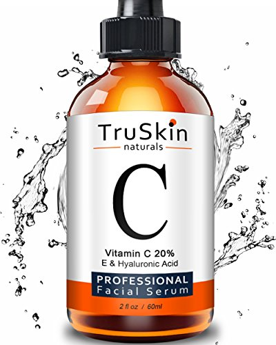 Price comparison product image TruSkin Naturals Vitamin C Serum for Face [BIG 2-OZ Bottle] Topical Facial Serum with Hyaluronic Acid & Vitamin E, 2 fl oz.