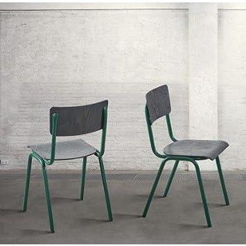 dialma brown – Stuhl aus Holz Buchenholz von Farbe schwarz Vintage ...