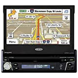 Jensen VX7012 7 inch LCD Multimedia Retractable Touch Screen Single Din Car Stereo with Built-In Bluetooth, CD/DVD Player & USB/microSD Ports