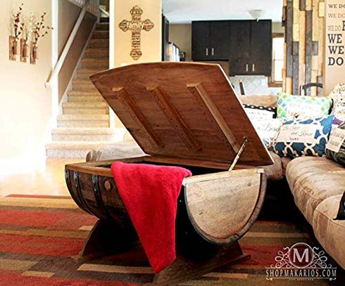 whiskey barrel, whiskey coffee table, wine table, coffee table, table with storage
