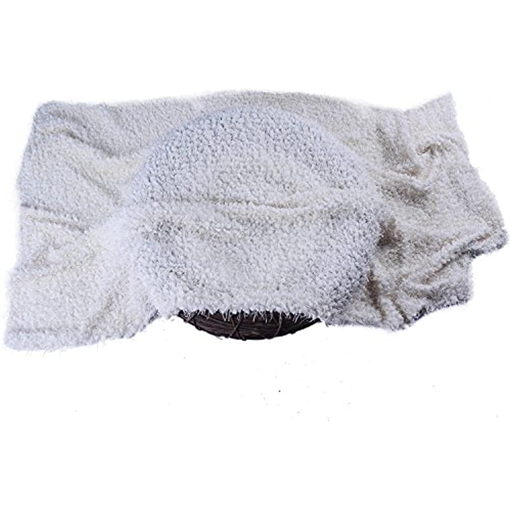 Off-White Sunmig Newborn Baby Photo Prop Blanket Rug Background Backdrops Basket Stuffer