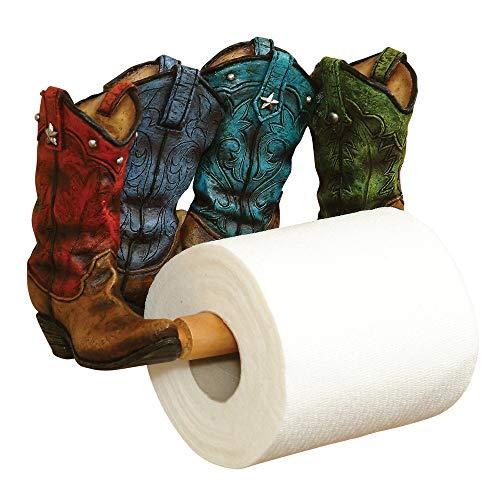(Smart Living Company Cowboy Boots Toilet Paper Holder, Multi Colour)