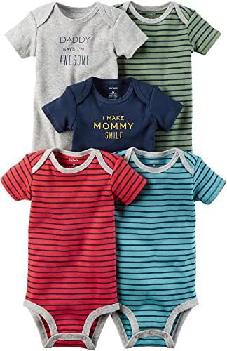 Carter's Baby Boys' 5-Pack Multi Striped Bodysuits 12 Months
