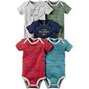 Carter's Baby Boys' 5-Pack Multi Striped Bodysuits 6 Months