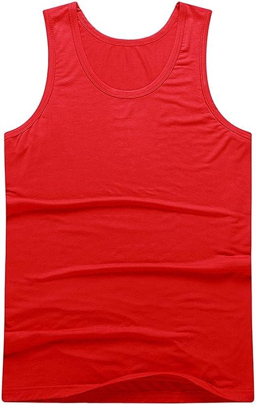 Débardeur pour Homme T-Shirt Col Rond Confort