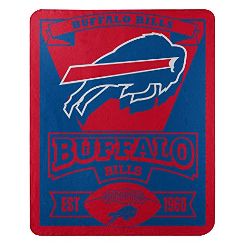 - The Northwest Company NFL Buffalo Bills Marque Printed Fleece Throw, 50-inch by 60-inch, Red