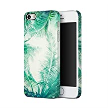 Tropical Exotic Palm Tree Good Vibes Only Apple iPhone 5, iPhone 5s, iPhone SE Plastic Phone Protective Case Cover