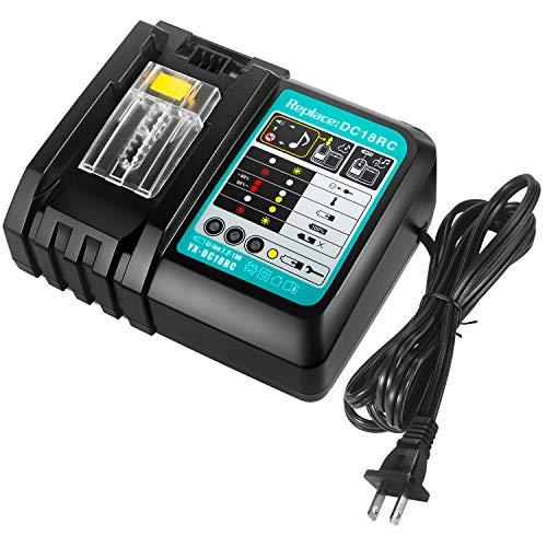 FLAGPOWER DC18RC Battery Charger for All Makita 7.2V-18V Lithium Battery BL1430 BL1830 BL1840 BL1850 BL1815 BL1440 US Plug Fast Charger
