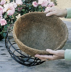 CS/10 14'' HANGING BASKET AND LINER SET by KIS