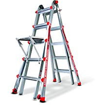 Little Giant Ladder 14016-304 Alta One 22' Ladder with Work Platform (250-lb Weight Rating, Type 1)