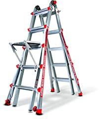 A-Frame Ladder With a simple click of the patented hinge, the Little Giant can be used as a traditional A-Frame ladder   Staircase Ladder Because it's adjustable in one-foot increments, the Little Giant allows one side of the ladder to be ext...
