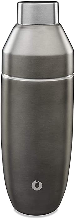 Snowfox Stainless Steel Cocktail, Shaker, Olive Grey