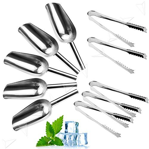 - Farmunion 5 Set Sweet Tongs & Scoops Candy Buffet Ice Tong & Scoop Wedding Bar Party NEW