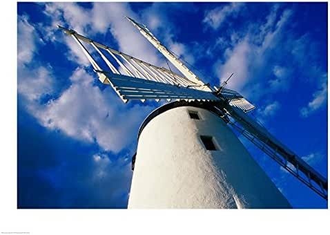 Low Angle View of a Traditional Windmill, Ballycopeland Windmill, Millisle, County Down, Northern Ireland Art Print, 19 x 14 inches