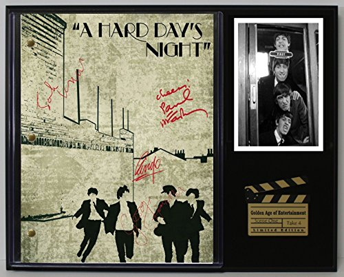 "A HARD DAYS NIGHT BEATLES LTD REPRODUCTION MOVIE SCRIPT CINEMA DISPLAY ""C3"""