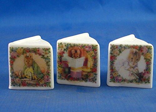 Porcelain China Miniature Book Thimbles Set of Three - Beatrix Potter Birchcroft China