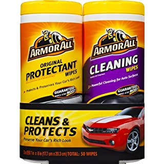 Armor All-10848 Original Protectant & Cleaning Wipes Twin Pack (2x25 count)