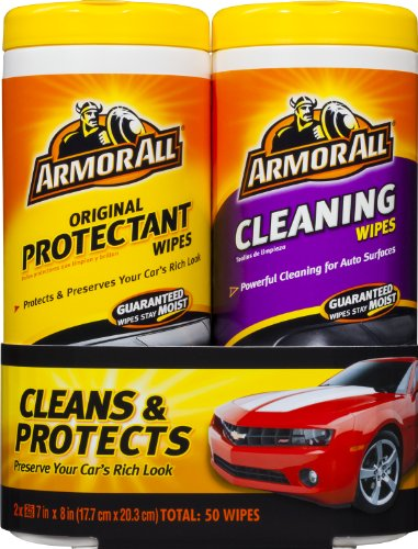 Armor All Original Protectant & Cleaning Wipes Twin Pack (2×25 count)