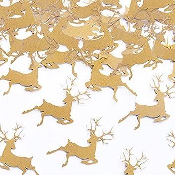 Streudeko Tischdeko Hirsch Gold Wild Reh Jagd Party Jager Deko