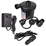 iPstyle Electric Air Pump for Inflatables, Portable Quick-Fill Air Mattress Pump with 3 Nozzles, Perfect Inflator/Deflator Pumps 110V AC/12V DC for Air Mattress Beds, Boats, Swimming Ring (Home Car)