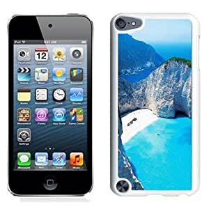 Fashionable Custom Designed iPod Touch 5 Phone Case With Navagio Shipwreck Beach Smugglers Cove Zakynthos Greece_White Phone Case