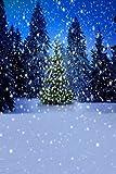 GladsBuy Shiny Christmas Tree 8' x 12' Computer Printed Photography Backdrop Christmas Theme Background LMG-188
