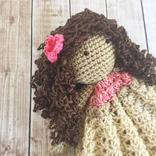 MADE TO ORDER Moana Inspired Lovey// Moana Doll//Security Blanket// Stuffed Toy// Plush Toy Doll// Soft Toy Doll// Amigurumi Doll// Baby Doll
