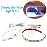 321 Lights Sewing Machine LED Lights,11.8 inch Lighting strip kit 6500k White with Touch Dimmer and USB Power, Flexible Strip with 3M Adhesive Tape Fits All Sewing Machines