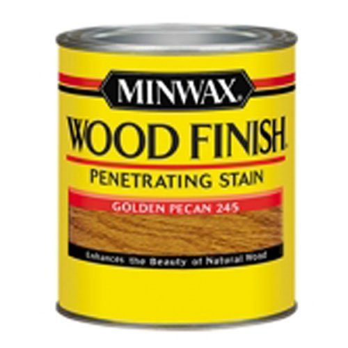 Minwax 22450 1/2 Pint Wood Finish Interior Wood Stain, Golden Pecan by Minwax ()