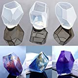 3 Styles DIY Resin Diamond Jewelry Casting Molds, Silicone Mold Kit, Liquid Resin Craft Molds