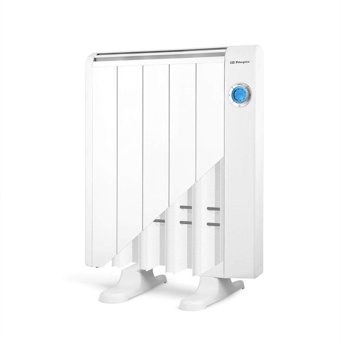7 Elementos de Calor Aluminio Pantalla Digital LCD 1300 W Mando a Distancia Orbegozo Rre 1310 Emisor T/érmico Bajo Consumo Blanco