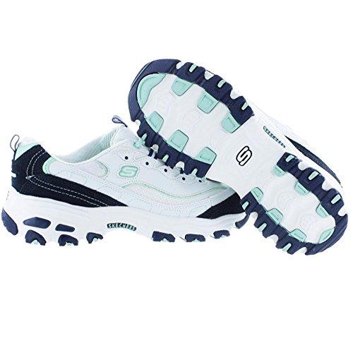 de Deporte no D'lites Original de Cordones White con para Zapatilla de Navy Skechers Memoria Espuma Sport xHPxwt