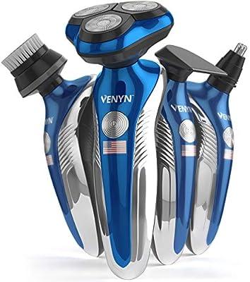 Venyn 4 en 1 Richor afeitadora eléctrica rotatoria – funciona para ...