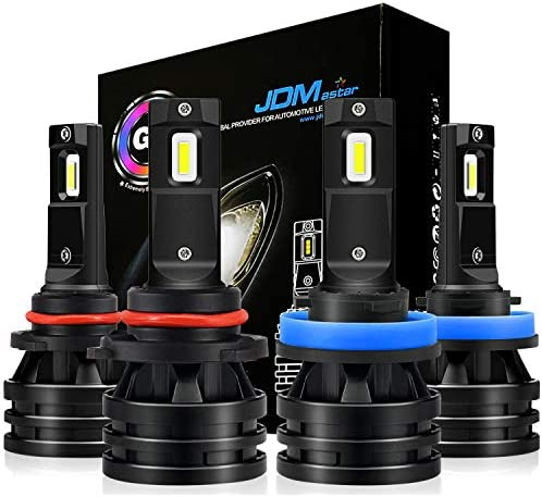 JDM ASTAR ミニデザイン 10000ルーメン 非常に明るい 9005 ハイビーム H11 ロービーム コンボ オールインワン LEDヘッドライト電球 限界のスペースに 調節可能なライトエンジェル キセノンホワイト