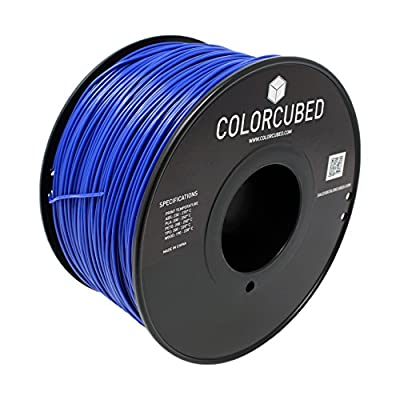 ColorCubed PLA Premium 3D Printer Filament 1kg Spool, 1.75mm, Dark Blue