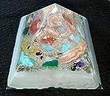 Orgonite crystal pyramid for Energy generator & Emf protection- Healing-meditation chakra