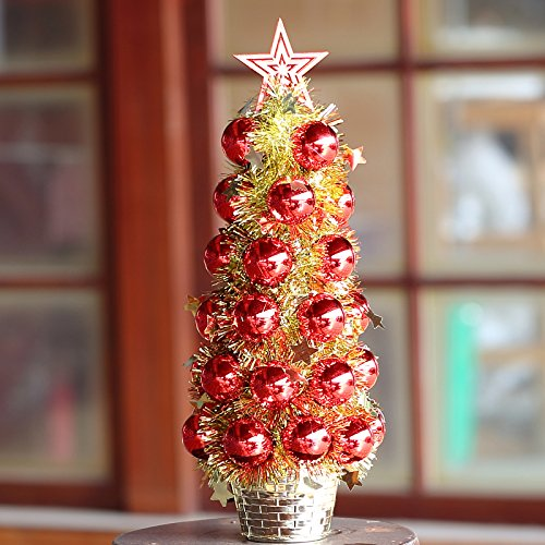 Tianliang04 Weihnachtsbaum Christmas Tree Ornaments Mini Desktop Package 60Cm,Red Marble Bonsai Möbel & Wohnaccessoires Wohnaccessoires & Deko