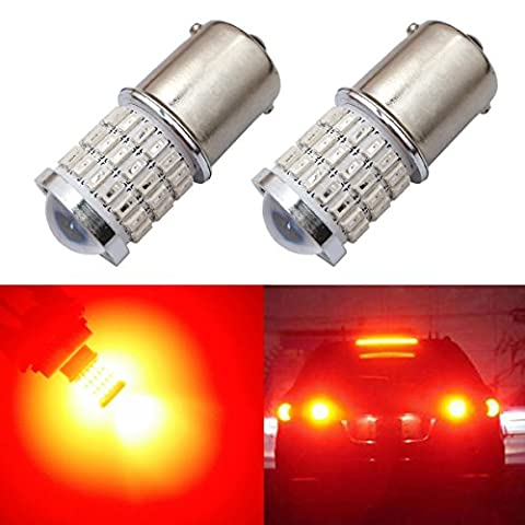 iBrightstar Newest 9-30V Super Bright Low Power 1156 1141 1003 BA15S LED Bulbs with Projector replacement for Tail Brake Lights, Brilliant (1156 Led Bulb Replacement)
