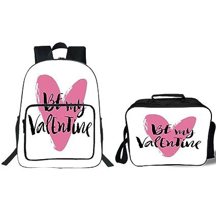 Amazon Com Iprint 19 School Backpack Lunch Bag Bundle Valentines