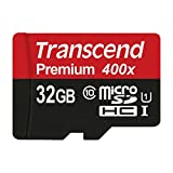 Image of Transcend 32GB MicroSDHC Class10 UHS-1 Memory Card with Adapter 60 MB/s (TS32GUSDU1)