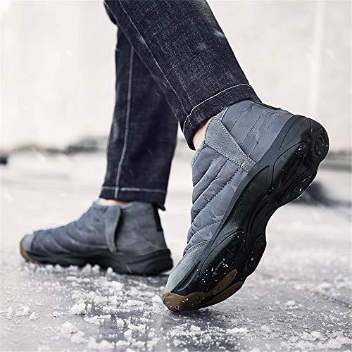 nbsp;hiver Fourrees Vert Neige Cheville Bottes Homme Gris Chaude Outdoor Boots Confortable Noir Haute 36 Trekking Randonnée Winter Plate Femme Joyto 46 fqw5SX1