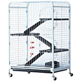 "Pawhut 52"" 6 Level Indoor Animal Cage/Hutch"
