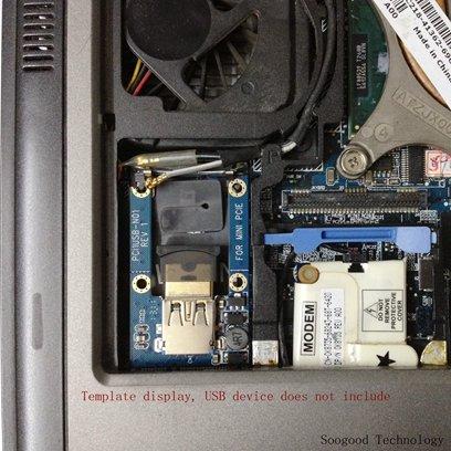 SOOGOOD Mini PCI-E /& Half Mini PCI-E Card to USB 2.0 Adapter Card MiniCard to USB2.0 Adapter