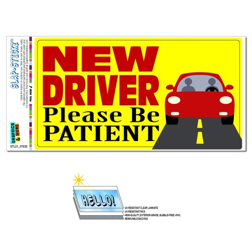 Driver Patient SLAP STICKZ Automotive Sticker