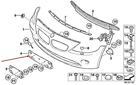GTV INVESTMENT Z4 E85 Pare-chocs avant plaque dimmatriculation 51117016062 7016062