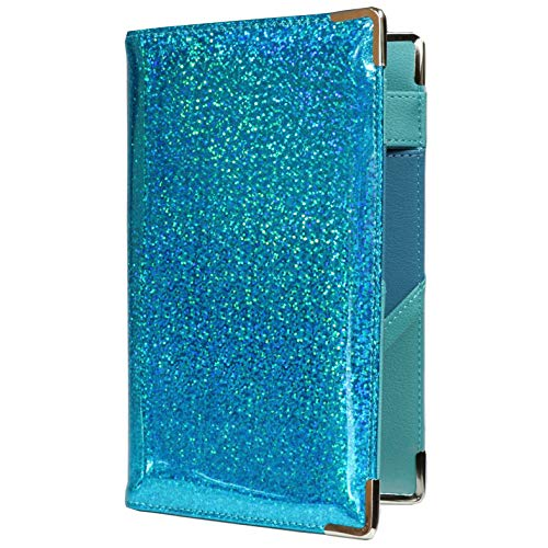 Of Course Holographic Glitter Server Book for Waitress and Waiter | Premium Organizer Wallet with 10 Money Pockets, Zipper Pocket and Original 2 Tone Interior | Cute Fits Aprons (Mermaid's Abode)