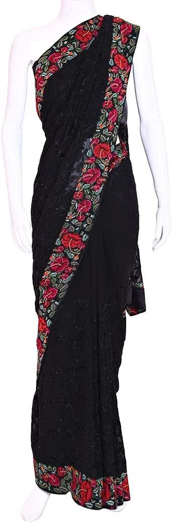 Kalaniketan Black Festive Saree For Women