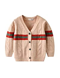Toddler Kids Boys Girls Knitted Sweaters Pullovers Tops Fall Winter 2019