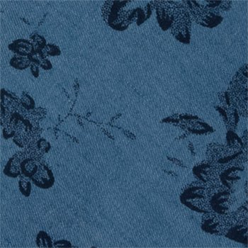 with Light Men's Notch dark blue Cotton big Necktie denim blue flowers YaY6Hwq